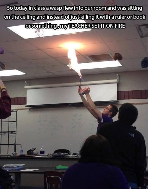 Teacher Uses Fire