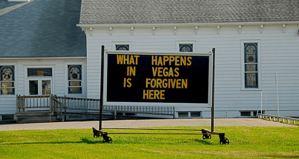 Vegas Church Signs
