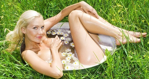 Woman Flower Tub
