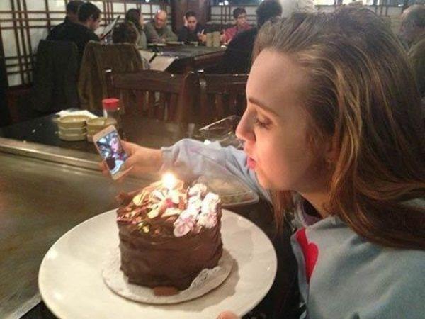 A Very Sad Birthday Selfie