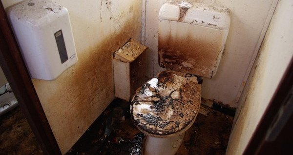 Burnt Toilet