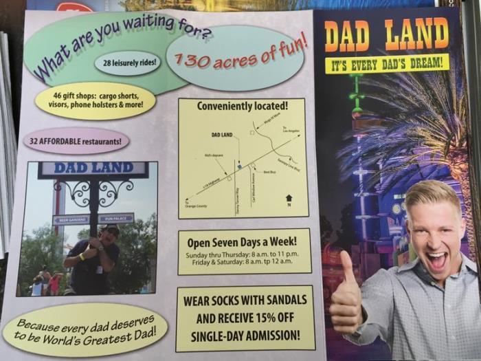 Dad Land Brochure Back