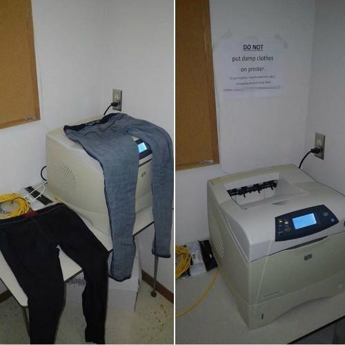 Damp Clothes Technology Fails