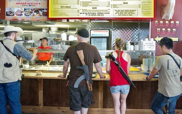Guns In Diner