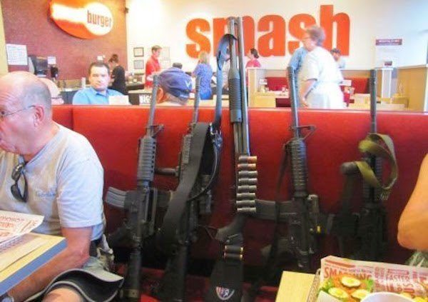 Guns In Smash Burger