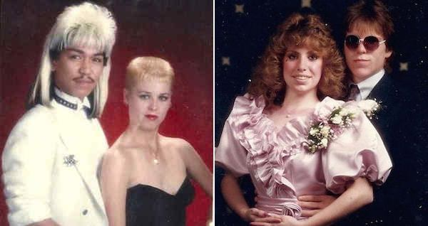 Hilarious 80s Prom Photos Mullets