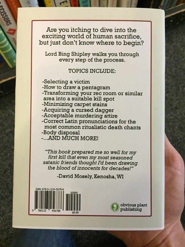 Human Sacrifice Back Cover