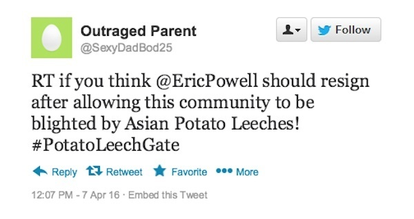 Outraged Parent Tweet