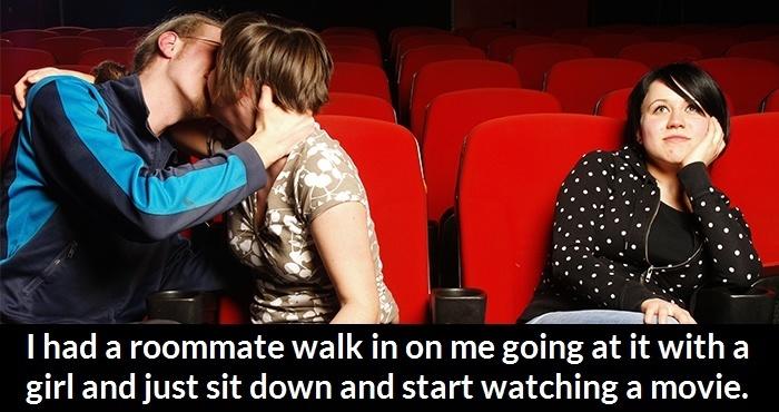 Roommate Walk In During Movie