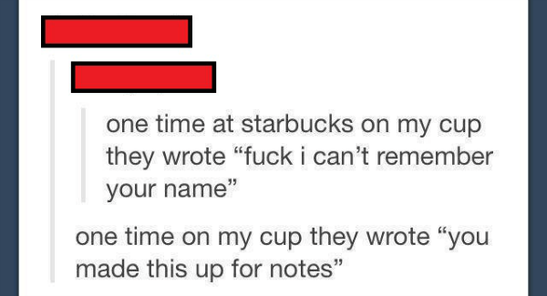 Starbucks Names