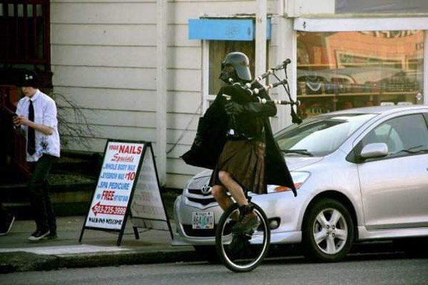 Unicycle Darth