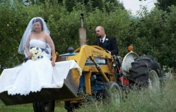Bulldozer Wedding