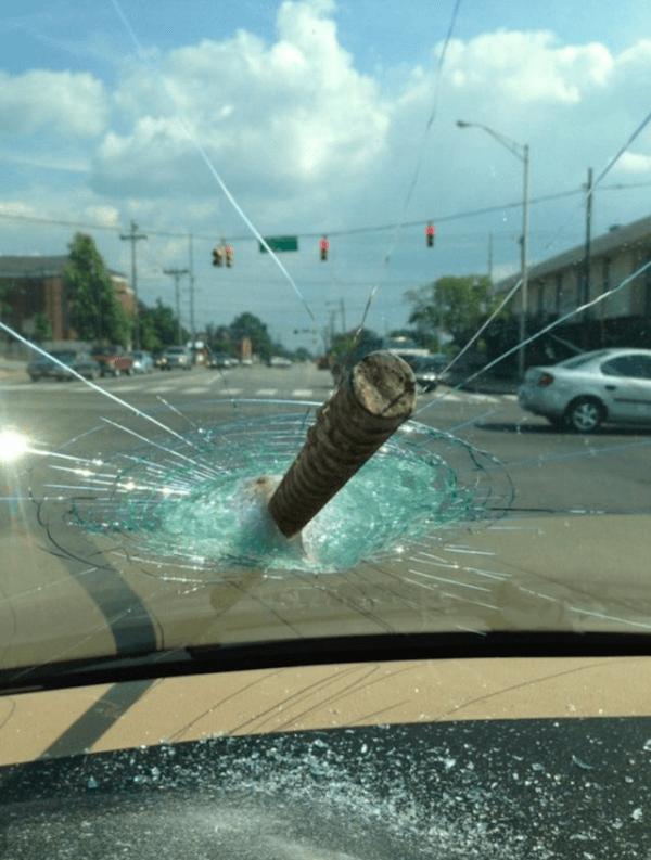 Pole Through A Car Window