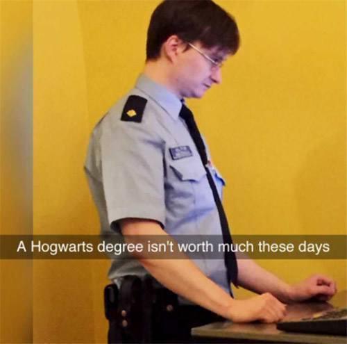 Hogwarts Degree Funny Snapchats