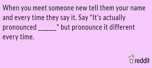Name Pronounciation