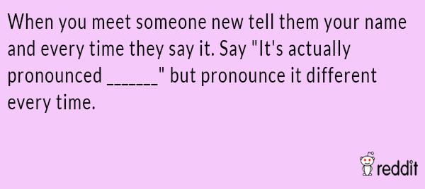 Name Pronounciation