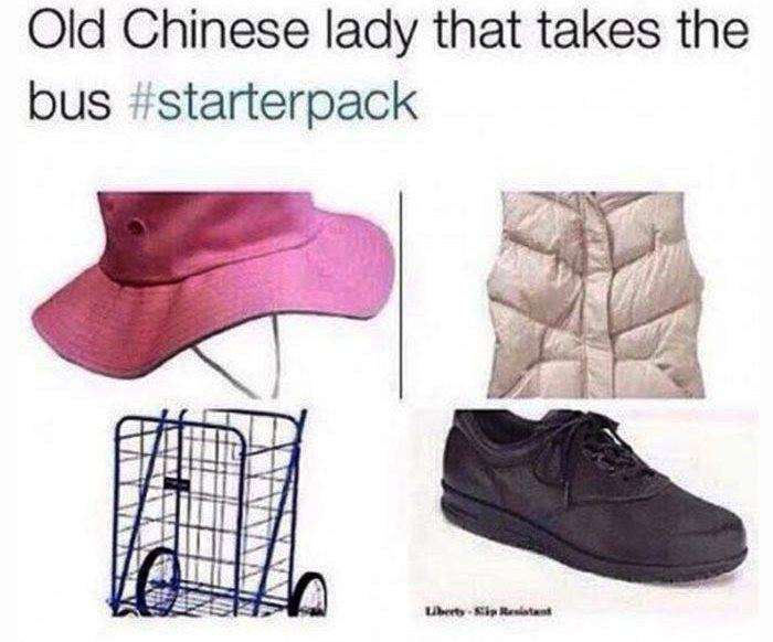 Old Chinese Lady Starter Pack Memes