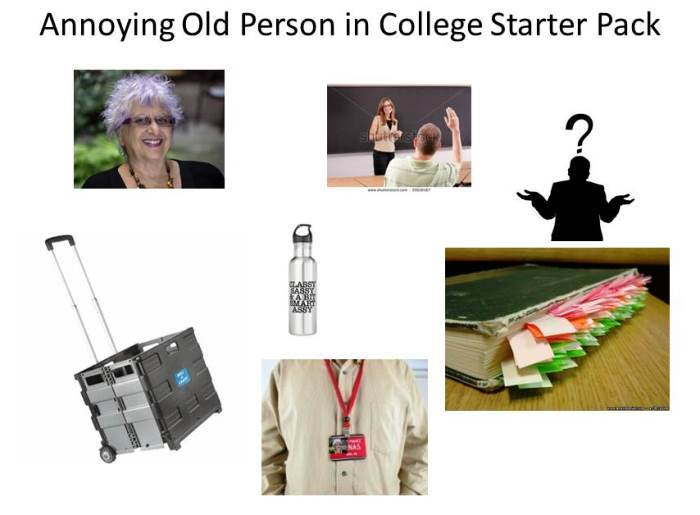 Old Person In College