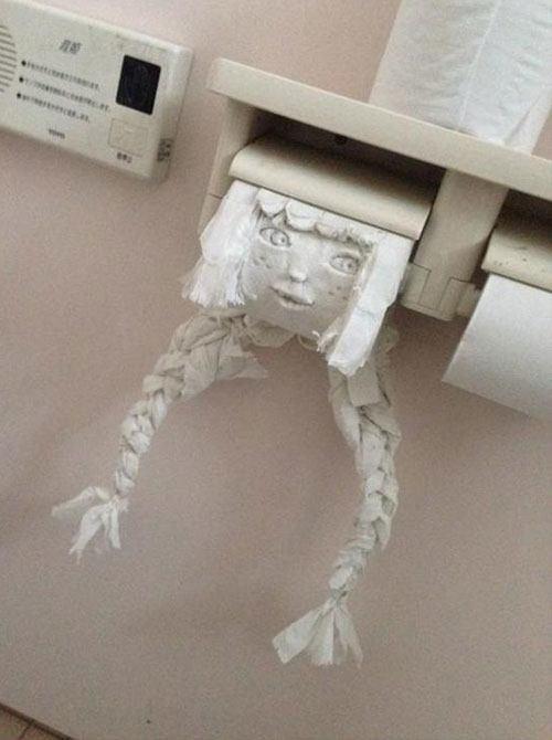 Toilet Paper Face