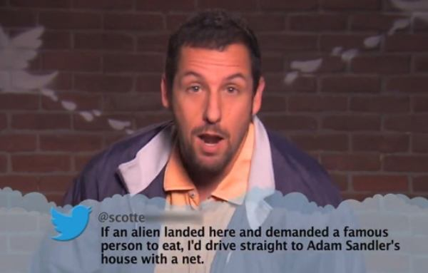 Adam Sandler Mean Tweet