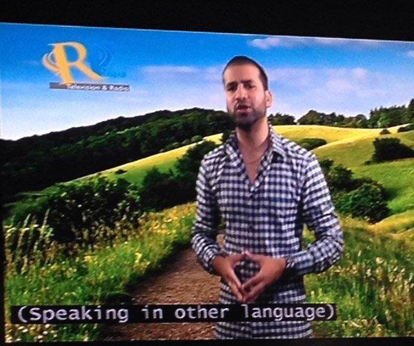 Other Language Caption Fails