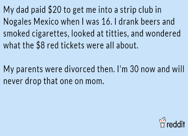 Strip Club Visit With Dad