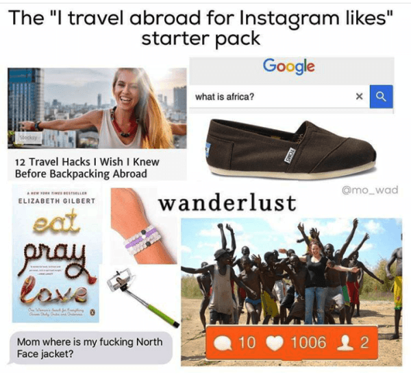 Travel Abroad Starter Pack Meme