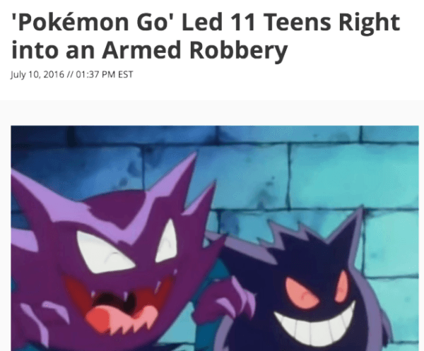 Armed Pokemon Robbery