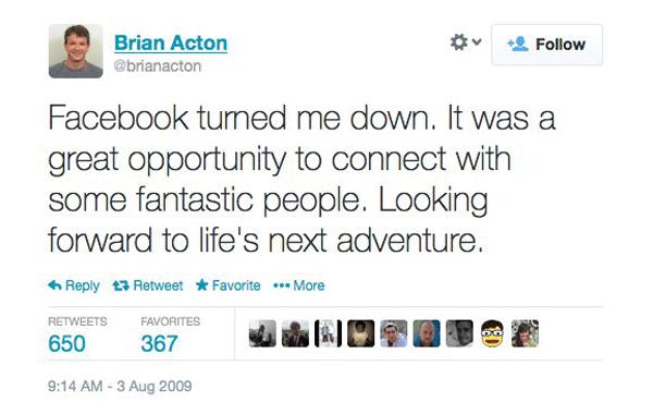 Brian Acton Fb Job
