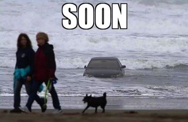 Car In The Ocean