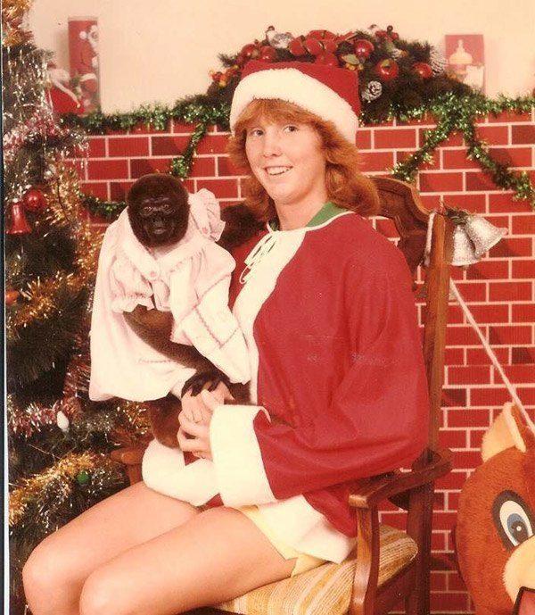 Christmas Monkey Baby