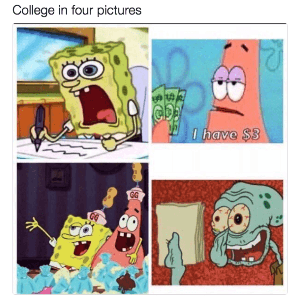College Spongebob Memes