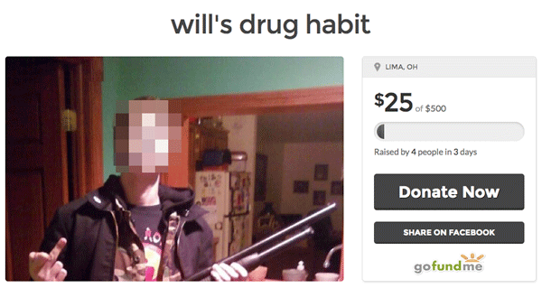 Go Fund Drug Habbit