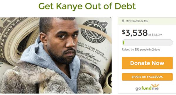 Go Fund Me Kanye