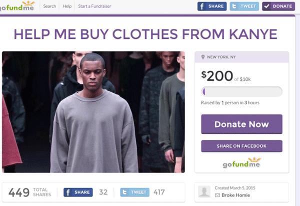 Go Fundme Kanye Clothes