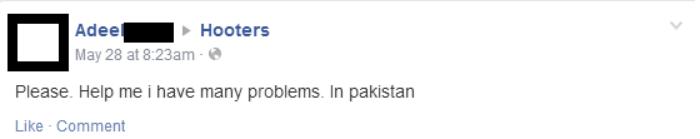 Hooters Pakistan