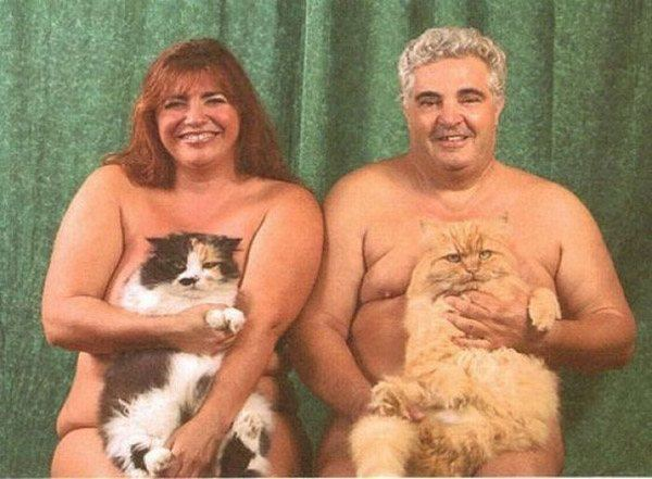 Naked Cat Couple