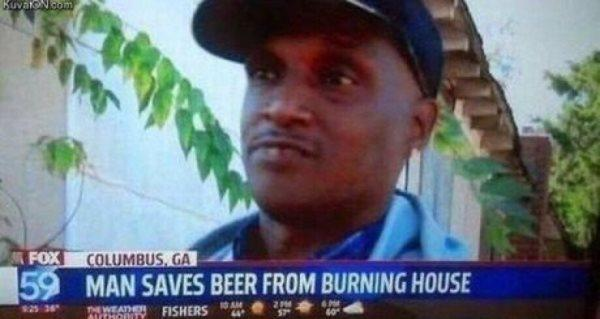 Saves Beer From House