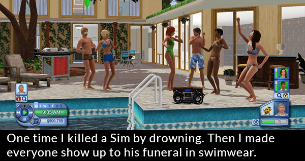 Sims Drowing