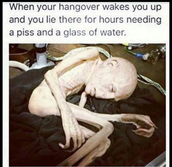 Alien Hungover