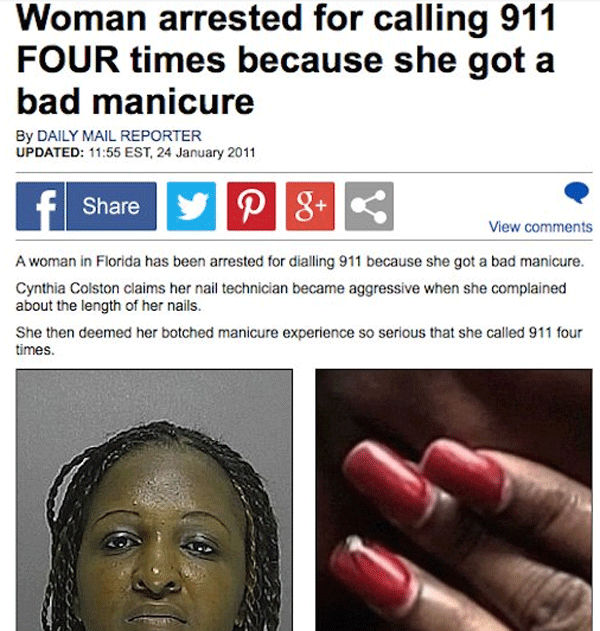 Bad Manicure Arrest