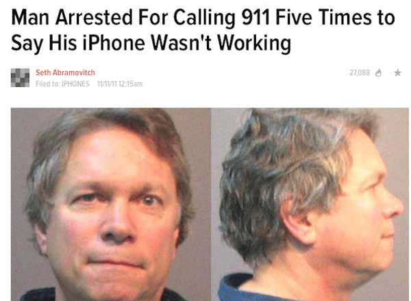 Broken Phone Arrest