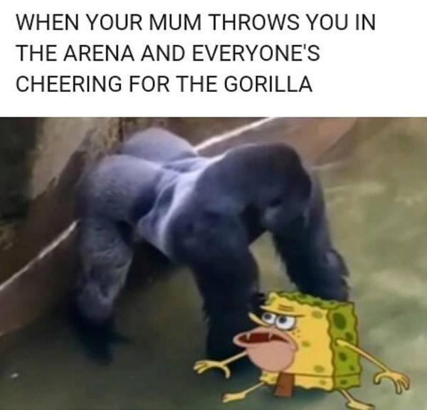 Caveman Harambe Meme