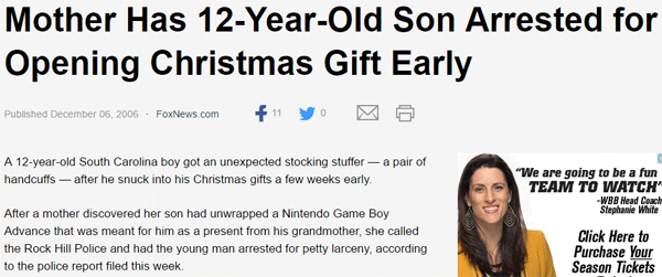 Christmas Arrest