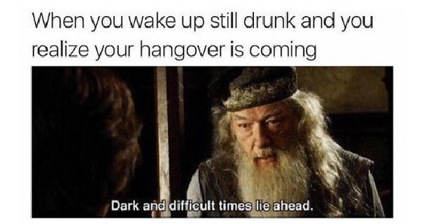 Gandalf Hangover Meme