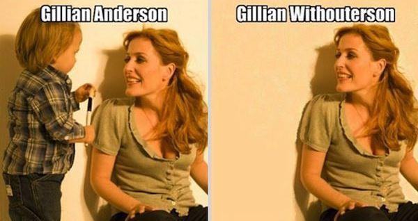 Gillian Anderson Funny Pun
