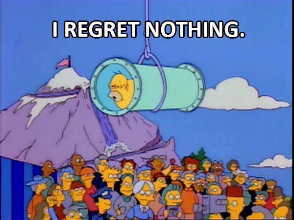 Homer Regret Nothin
