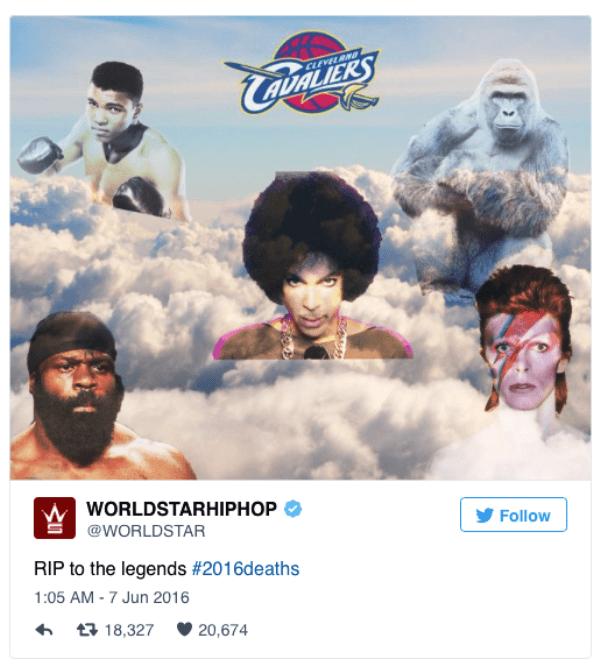 Legends Of 2016
