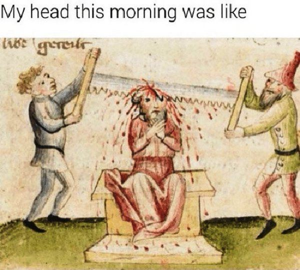 Medieval Hangover Memes