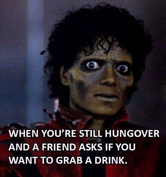 Michael Jackson Hungover